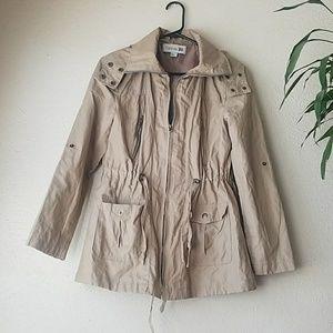 Forever 21 khaki utility drawstring jacket
